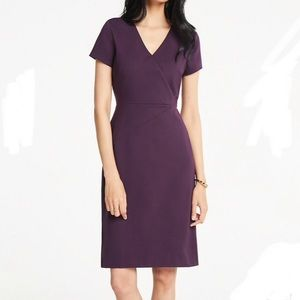 NWT Ann Taylor Ponte Dress - deep violet